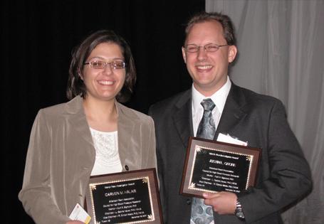 Justin Grobe and Carmen Halabi Receiving Merck Awards